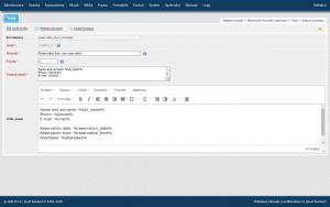 Nastavení šablony e-mailu